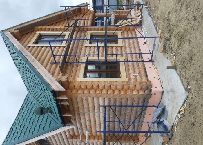 Баня-дом из оцилиндрованного бревна в пос. Солнечный. Внутренняя отделка