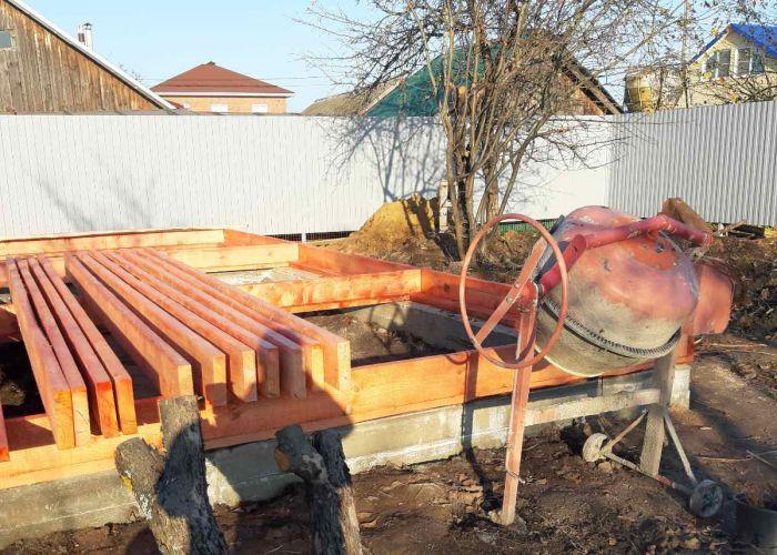 Каркасная баня размером 5х6 метров (по внешней стороне) с открытой верандой 3х5 метров дер. Игнатово